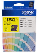 Image of Brother LC135XL Genuine Yellow Ink Cartridge