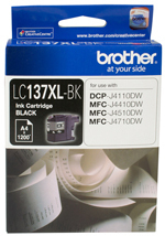 Image of Brother LC137XL Genuine Black Ink Cartridge