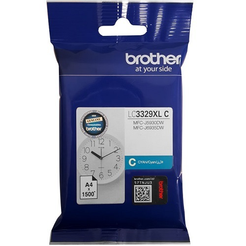 Image of Brother LC3329XLC Genuine Cyan Ink