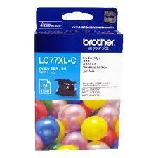 Image of Brother LC77XLC Genuine Cyan Ink Cartridge
