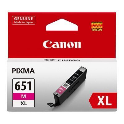Image of Canon CLI-651XLM Genuine Magenta Ink Cartridge