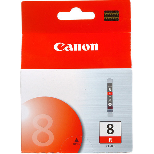 Image of Canon CLI-8R Genuine Red Ink Cartridge