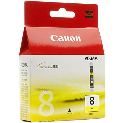 Image of Canon CLI-8Y Genuine Yellow Ink Cartridge