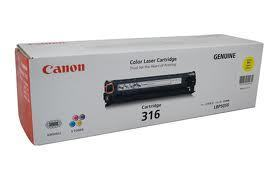 Image of Canon Cart-316 Genuine Yellow Toner Cartridge