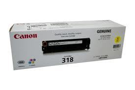 Image of Canon Cart-318 Genuine Yellow Toner Cartridge