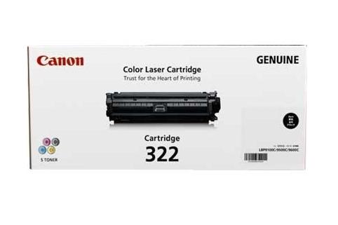 Image of Canon Cart-322BK LBP-9100Cdn Genuine Black Toner Cartridge