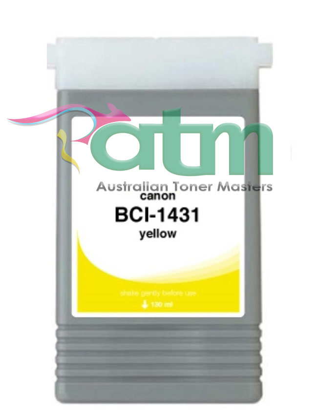 Image of Compatible Canon BCI-1431Y Yellow Pigment Ink
