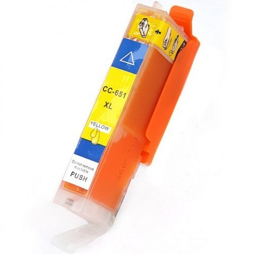 Image of Compatible Canon CLI-651XLBK Yellow Ink Cartridge