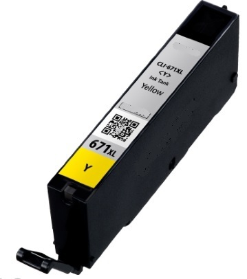 Image of Compatible Canon CLI-671XLY Yellow Ink Cartridge