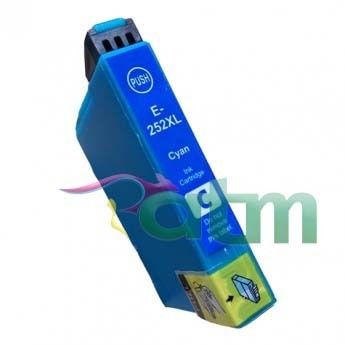 Image of Compatible Epson 252XL C13T253292 Cyan Ink Cartridge