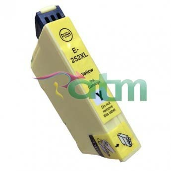 Image of Compatible Epson 252XL C13T253492 Yellow Ink Cartridge
