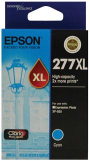 Image of Epson 277XL C13T278292 Genuine Cyan Ink Cartridge