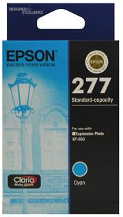 Image of Epson 277 C13T277292 Genuine Cyan Ink Cartridge