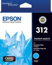 Image of Epson 312 C13T182292 Genuine Cyan Ink Cartridge