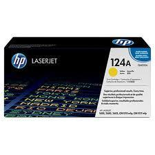 Image of HP 124A Q6002A Genuine Yellow Toner Cartridge