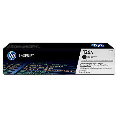 Image of HP 126A CE310A Genuine Black Toner Cartridge
