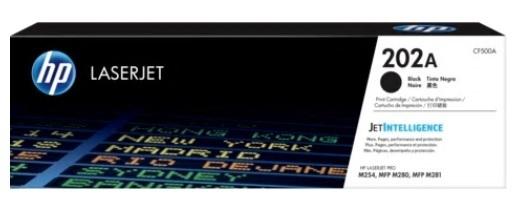 Image of HP CF500A 202A Genuine Black Toner Cartridge