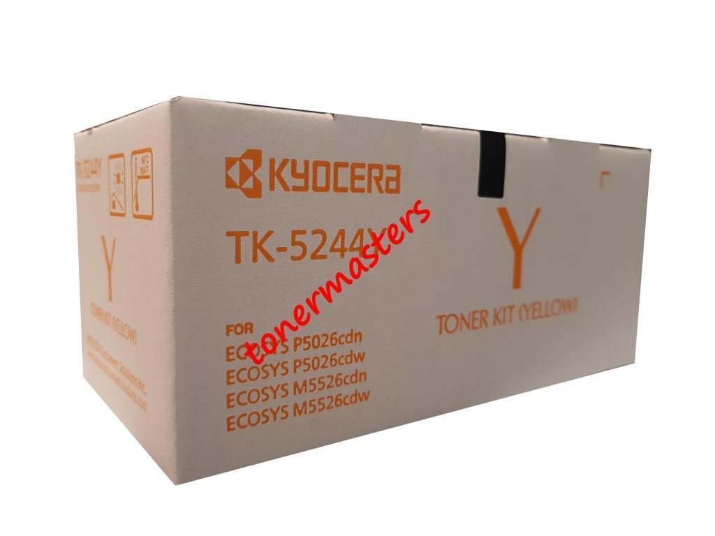 Image of Kyocera TK-5244Y Genuine Yellow Toner Cartridges