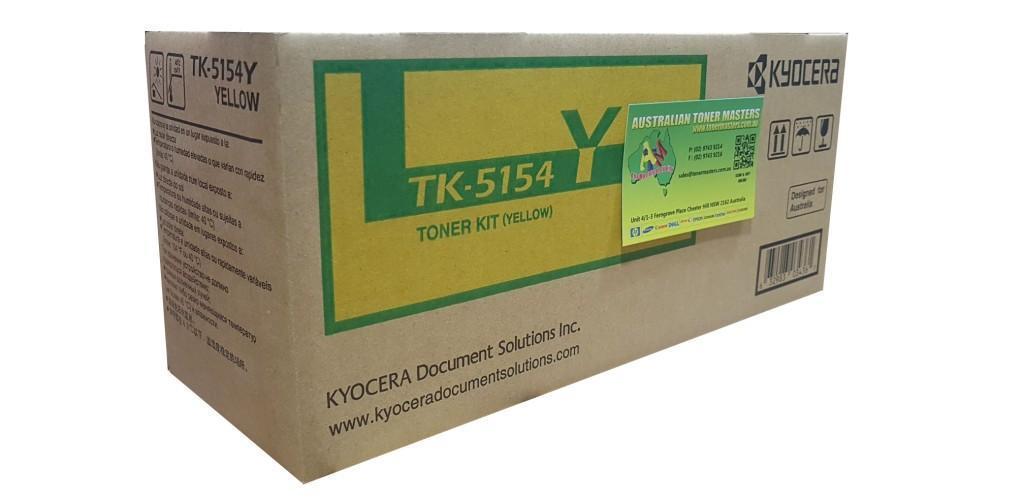 Image of Kyocera TK5154Y Genuine Yellow Toner Cartridge