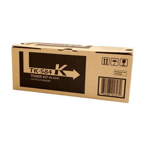 Image of Kyocera TK584K Genuine Black Toner Cartridge