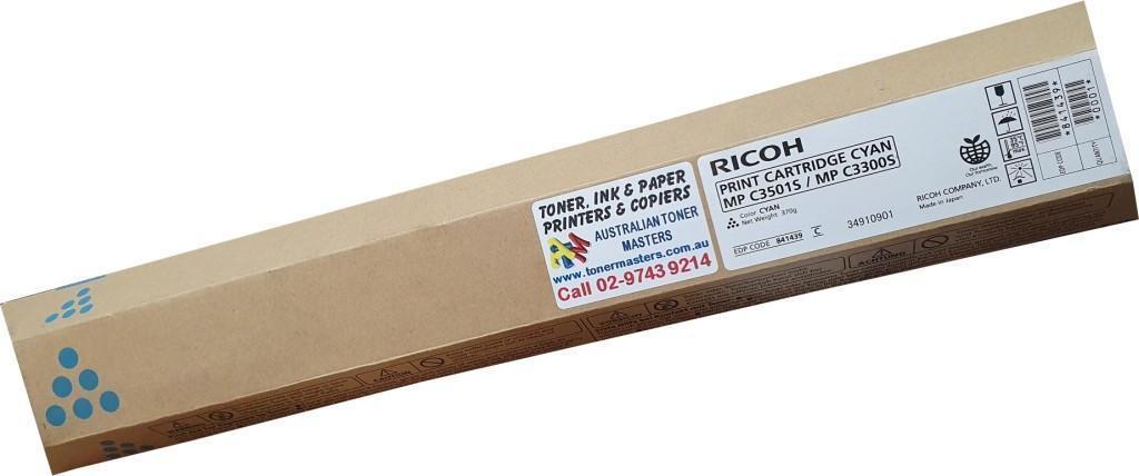 Image of Ricoh MP-C3501S 841439 Genuine Cyan Toner Cartridge