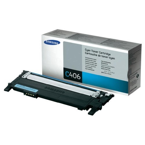Image of Samsung CLT-C406S Genuine Cyan Toner Cartridge