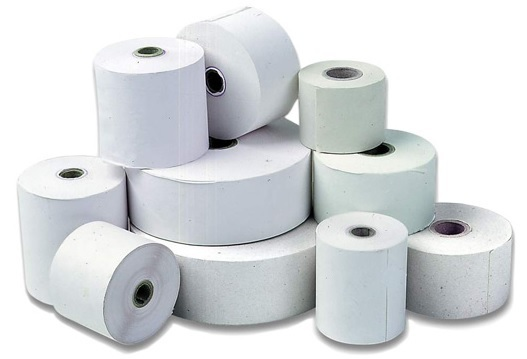 Image of Thermal CSO (100) 57mm x 36mm x 12mm Silver Grade Thermal Roll Paper