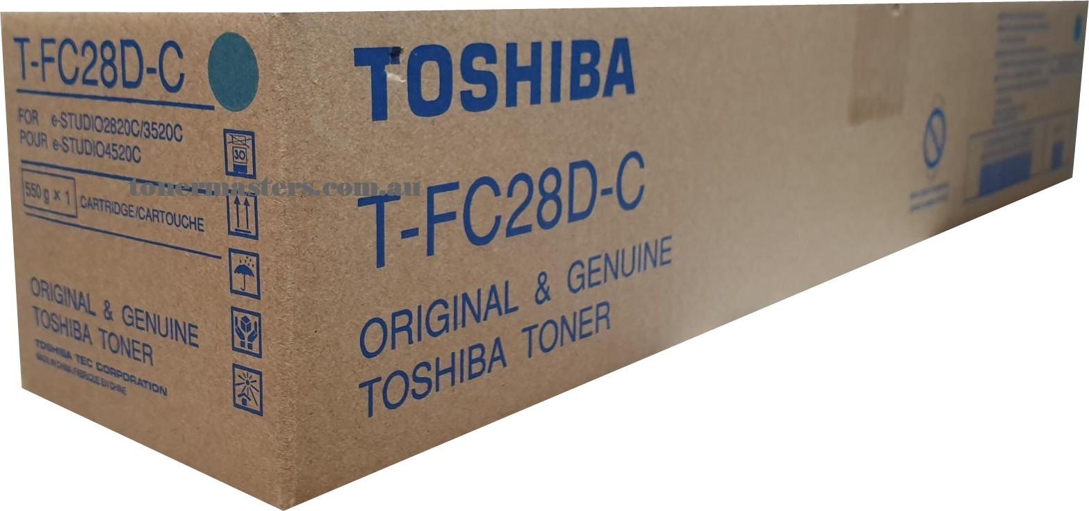 Image of Toshiba E-Studio 4520c T-FC28D-C Genuine Cyan Toner Cartridge