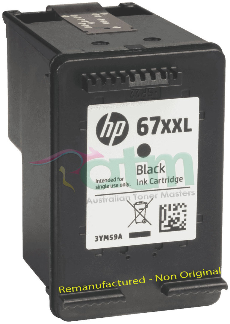 Image of HP 67XXL 3YM59AA Remanufactured Black Ink Cartridge 700 Page